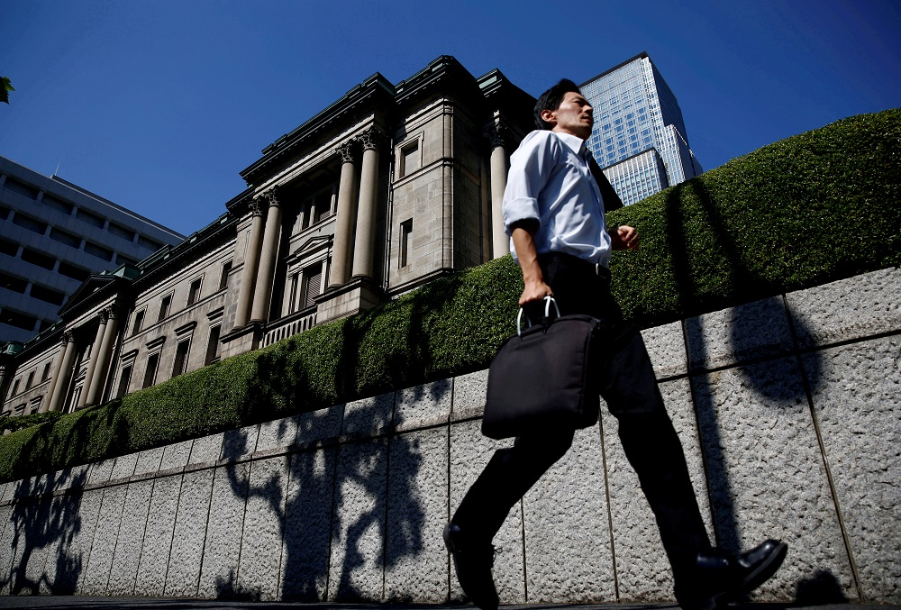For the year to March 2021, the BoJ expects the economy to shrink 5.5 per cent, against a 4.7 per cent contraction in the July estimate, while prices are seen falling 0.6 per cent, compared with a previously forecast 0.5 per cent decline. — Reuters pic