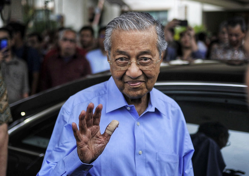 File picture shows former prime minister Tun Dr Mahathir leaving the Perdana Leadership Foundation after meeting with Armada Youth in Putrajaya March 1, 2020. — Picture by Shafwan Zaidon
