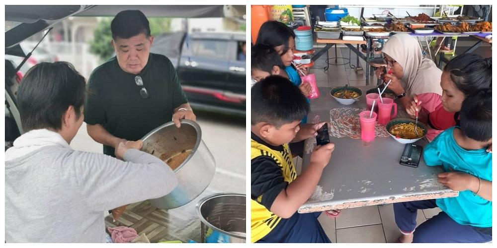 关志庭(左)是著名社区领袖,成立马铃薯基金协助不幸人士。-图取自关志庭脸书-