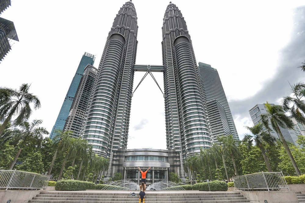 A view of the Petronas Twin Tower in Kuala Lumpur March 14, 2020 just before MCO kicked in. The iconic landmark received fewer visitors amid the Covid-19 pandemic. — Picture by Ahmad Zamzahuri