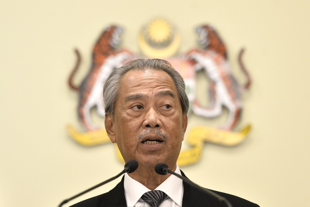 Prime Minister Tan Sri Muhyiddin Yasin had on June 15 declared his monthly income to be RM93,841.65 and his total assets to be worth more than RM10 million. — Picture by Miera Zulyana