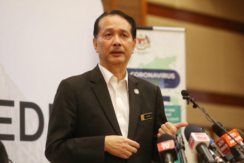 Health director-general Datuk Dr Noor Hisham Abdullah took to Facebook tonight to share the latest updates on the status of drugs needed for Covid-19 treatments in Malaysia. — Picture by Choo Choy May