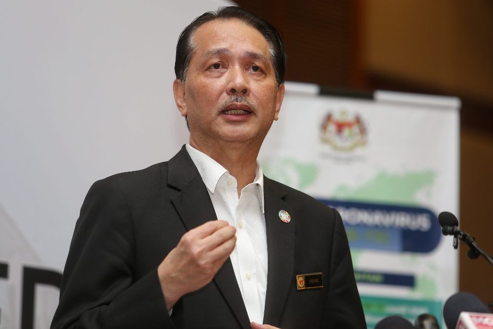 Health director-general Datuk Dr Noor Hisham Abdullah speaks during a press conference on Covid-19 in Putrajaya March 22, 2020. — Picture by Choo Choy May