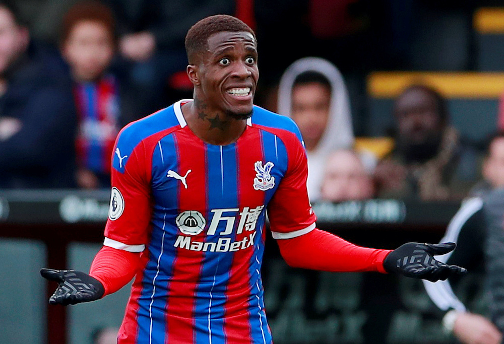 Zaha, Palace's top scorer with nine Premier League goals this season, was forced off during their 2-1 win at Newcastle United on Wednesday. — Action Images via Reuters/Andrew Couldridge
