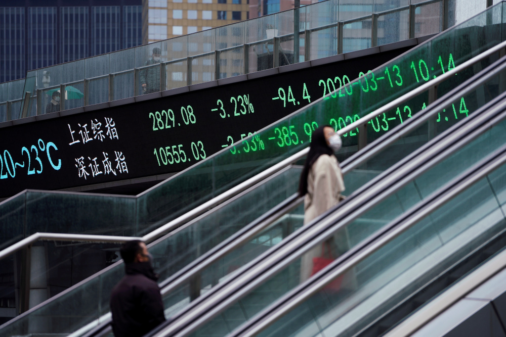 In Asia, Chinese blue chips gained 1.1 per cent after the economy was reported to have grown 6.5 per cent in the fourth quarter, on a year earlier, topping forecasts of 6.1 per cent. — Reuters pic