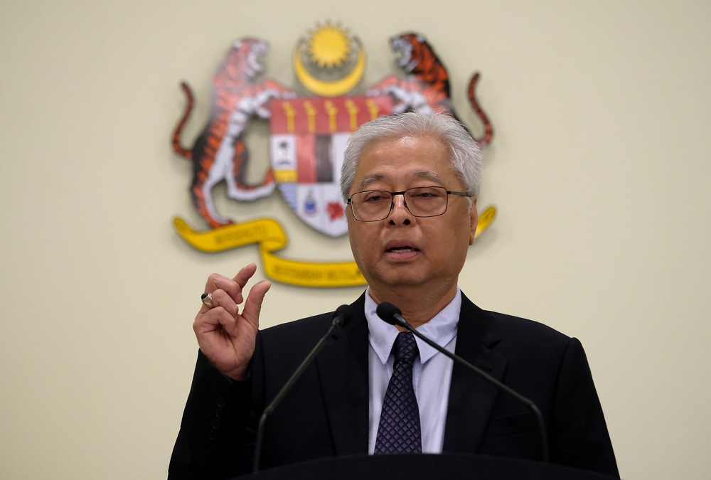 Datuk Seri Ismail Sabri Yaakob speaks during a press conference in Putrajaya March 19, 2020. — Bernama pic