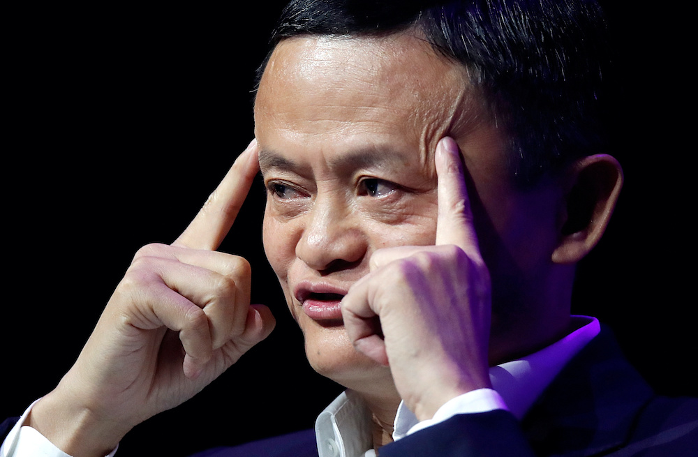 According to Bloomberg former English teacher Jack Ma's 8.8 per cent stake in Ant is worth US$27.4 billion based on the stock pricing, and will lift the entrepreneur's fortune to US$71.1 billion. — Reuters pic