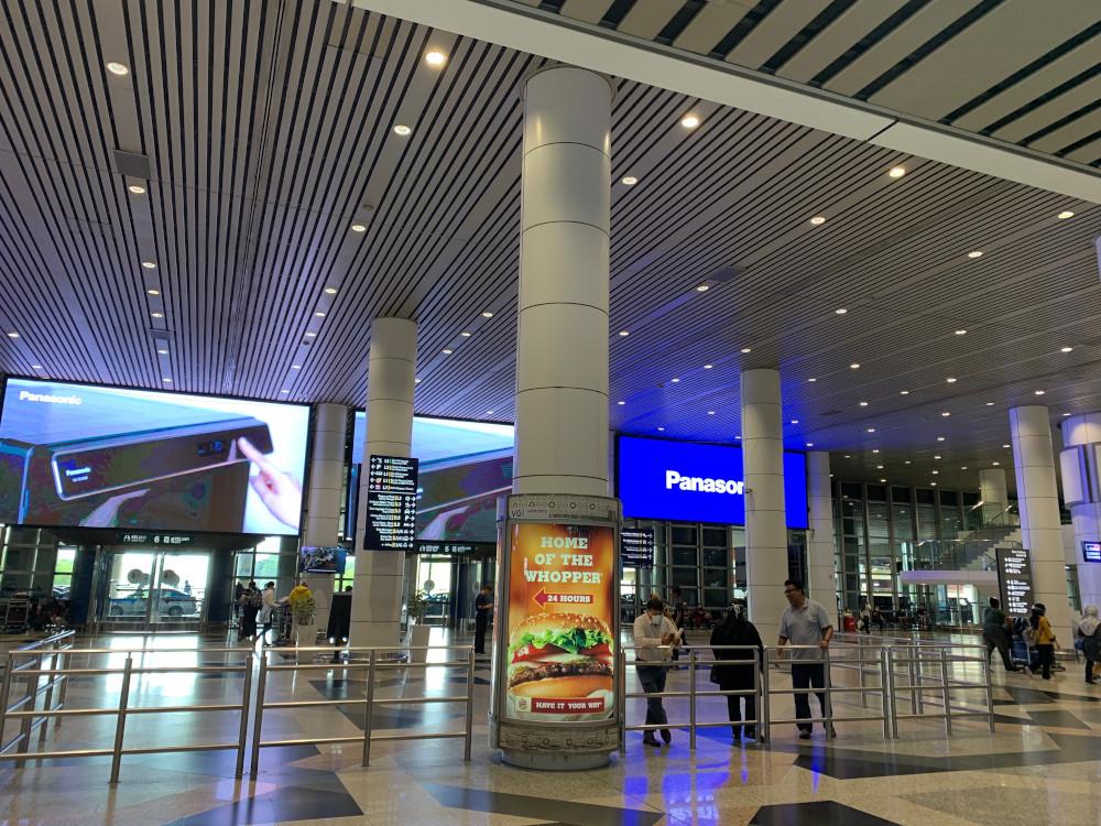 The Kuala Lumpur International Airport looked like a 'ghost airport' yesterday. — Picture by Thasha Jayamanogaran