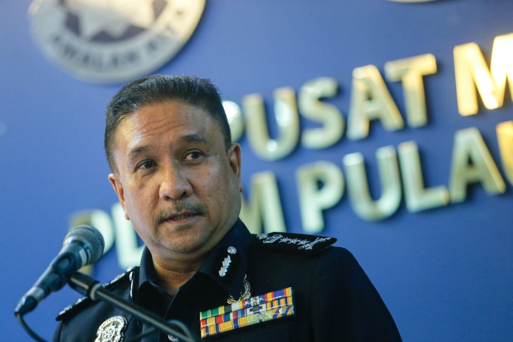 Penang police chief Datuk Sahabudin Abd Manan said 462 raids involving gambling activities had been carried out from January till yesterday, and 137 cases had been taken to court. ― Picture by Sayuti Zainudin