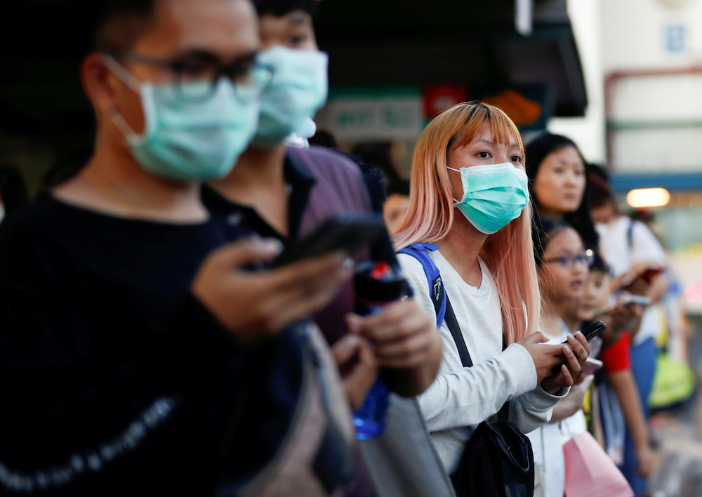 As of noon Thursday, the republic reported a total of five new cases, with one locally transmitted case, thus bringing the total infection here to 58,195. — Reuters pic