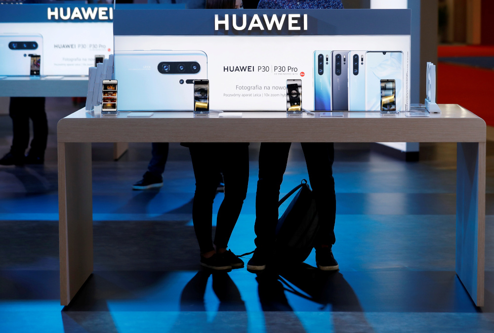 The Huawei logo is pictured on the company's stand during the Electronics Show — International Trade Fair for Consumer Electronics at Ptak Warsaw Expo in Nadarzyn, Poland, May 10, 2019. — Reuters pic