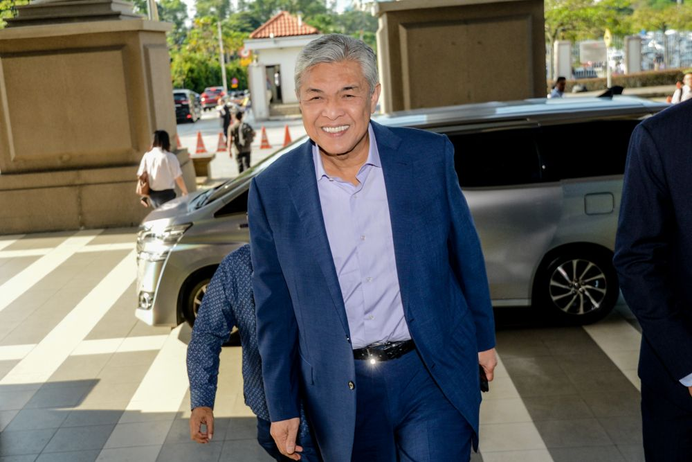 Datuk Seri Ahmad Zahid Hamidi is pictured at the Kuala Lumpur High Court March 2, 2020. — Picture by Firdaus Latif