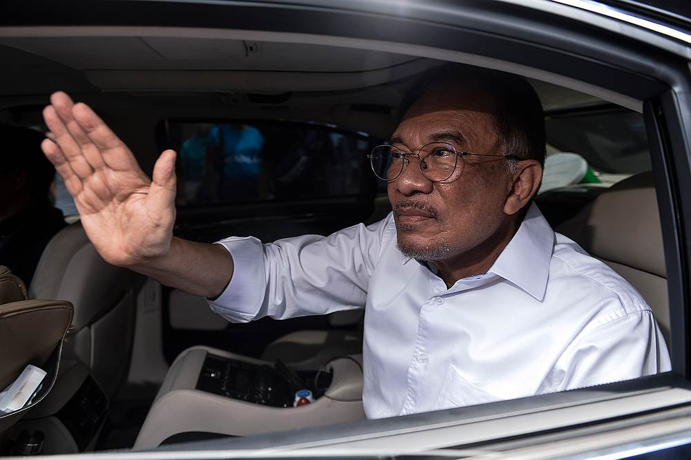 PKR President Datuk Seri Anwar Ibrahim now has his hands full trying to keep the party together. — Picture by Miera Zulyana