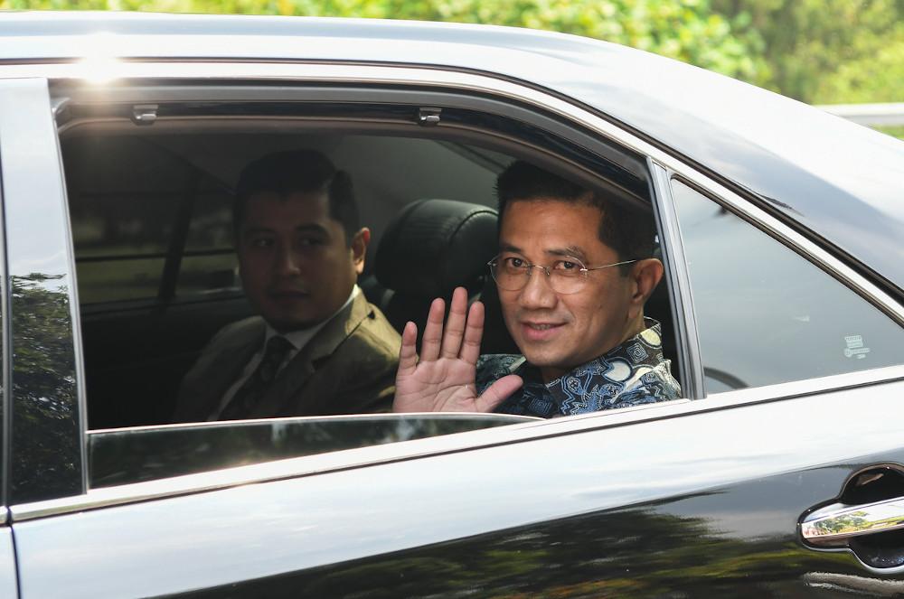 Gombak MP Datuk Seri Mohamed Azmin Ali arrives at Seri Perdana March 9, 2020. — Bernama pic