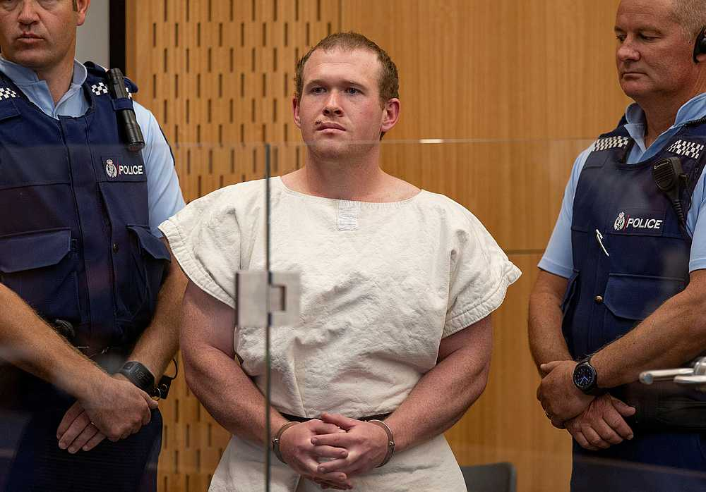 Brenton Tarrant is seen in the dock during his appearance in the Christchurch District Court, New Zealand March 16, 2019. — Mark Mitchell/New Zealand Herald/Pool pic via Reuters