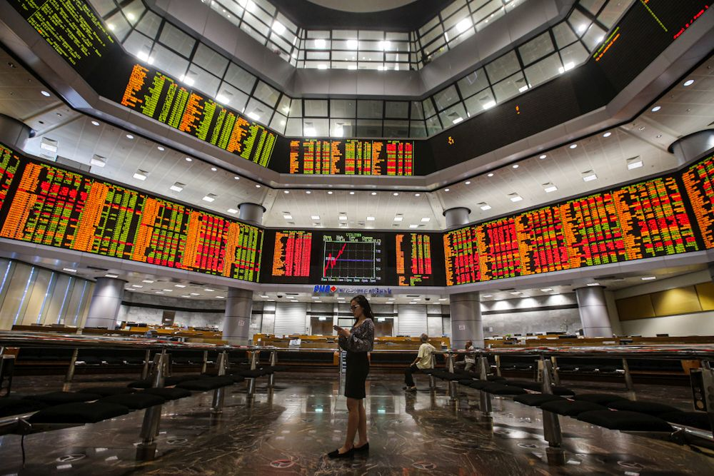 In step with regional trends, Bursa Malaysia ends the morning session higher. ― Picture by Hari Anggara