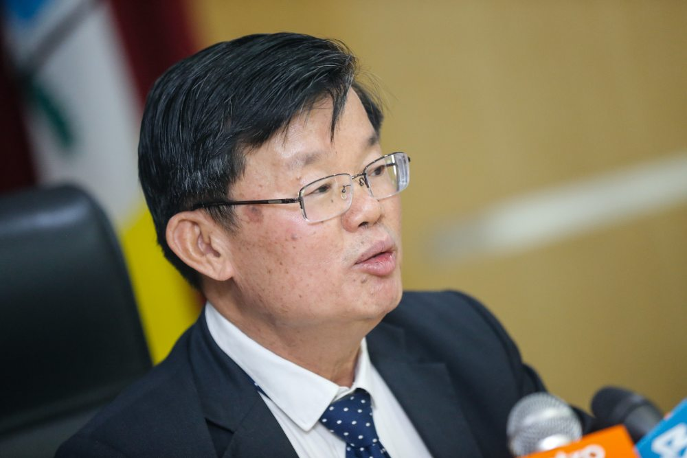 Penang Chief Minister Chow Kon Yeow speaks during the press conference in George Town March 4, 2020. ― Picture by Sayuti Zainudin