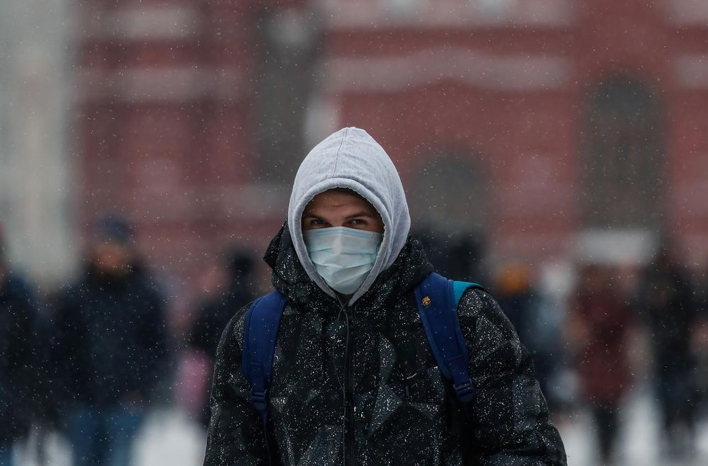 A man is pictured wearing medical mask in the Red Square in Moscow, Russia January 28, 2020. — Reuters pic