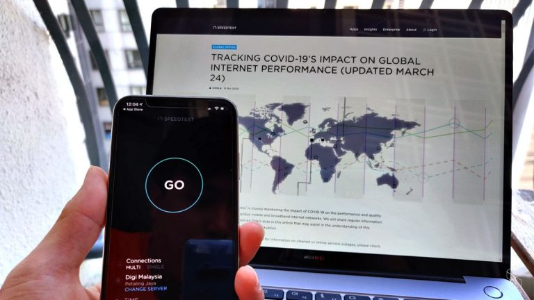 As of March 23, 2020, Ookla shared that they have seen a general degradation of speeds for both mobile and fixed broadband connections around the world. ― SoyaCincau pic