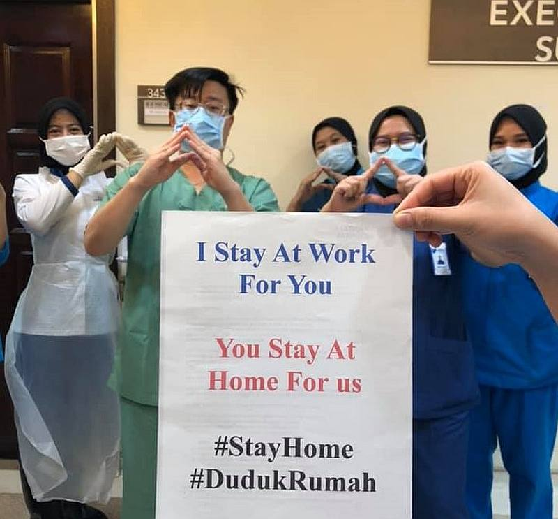 Pantai Hospital Penang consultant neurosurgeon takes to Facebook to urge Malaysians to stay at home during the two-week nationwide movement control order. — Picture via Facebook/ni.d.sheng