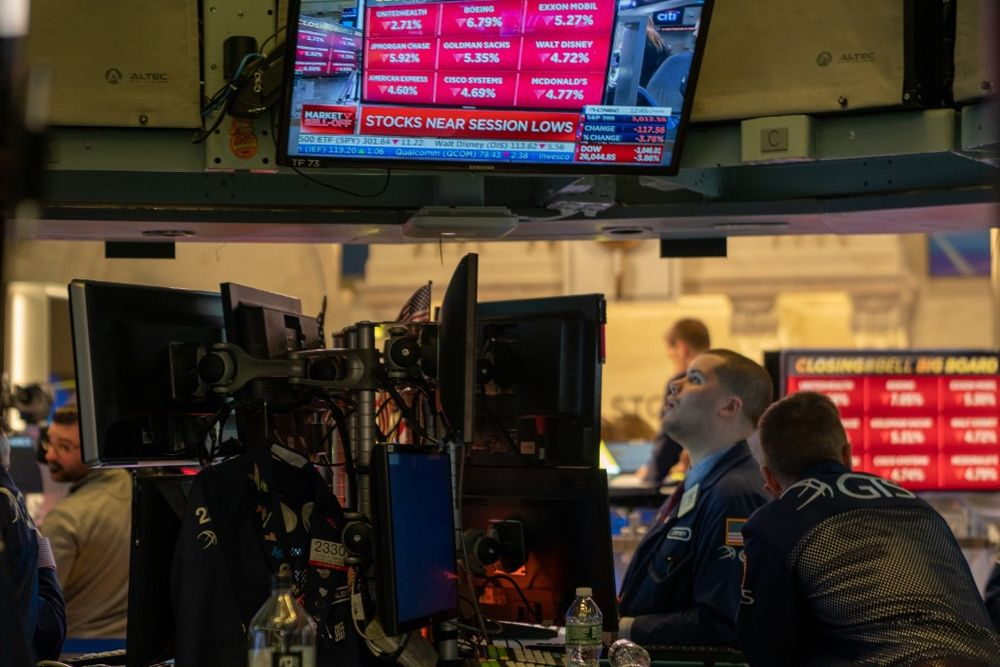 The Dow Jones Industrial Average fell 80.12 points, or 0.29 per cent, to 27,896.72, the S&P 500 lost 6.92 points, or 0.20 per cent, to 3,373.43 and the Nasdaq Composite added 30.27 points, or 0.27 per cent, to 11,042.50. — AFP pic
