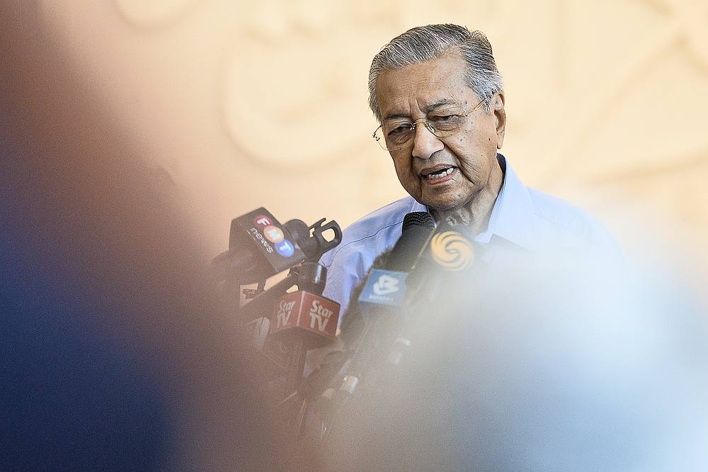 Former Prime Minister Tun Dr Mahathir Mohammad speaks during press conference in Yayasan Al-Bukhary, Kuala Lumpur March 1, 2020. — Picture by Miera Zulyana