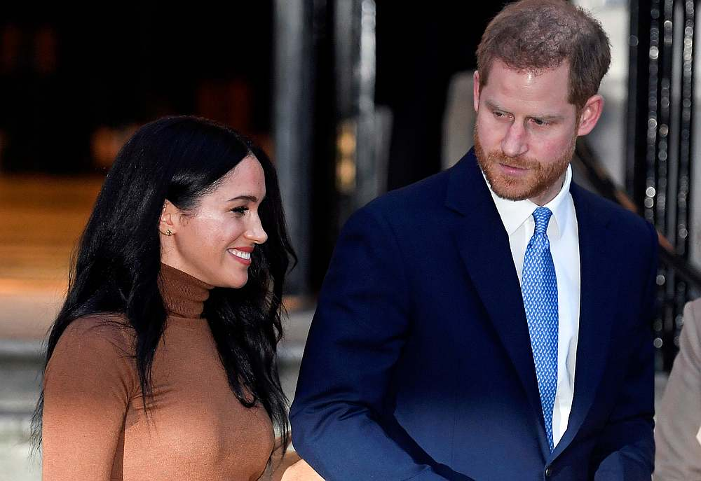 Britain's Prince Harry and his wife Meghan, Duchess of Sussex, leave Canada House in London January 7, 2020. — Reuters pic