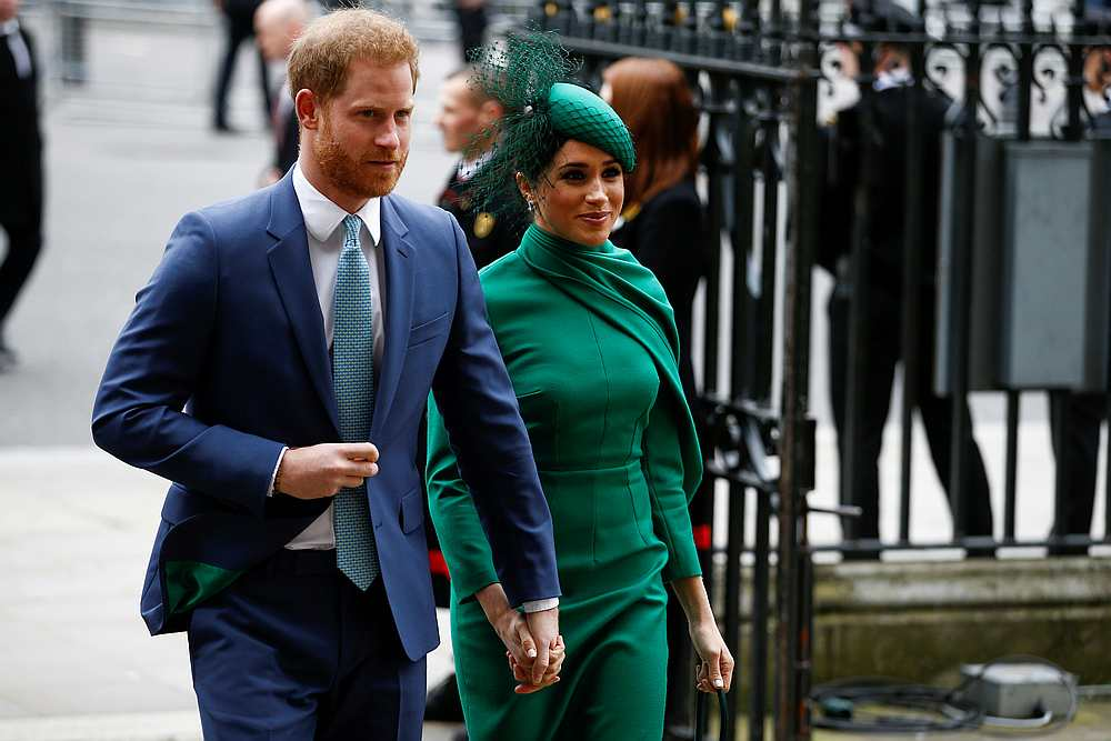 Britain's Prince Harry and Meghan now live in Los Angeles after they stepped down from their royal roles in March to forge new careers. — Reuters pic