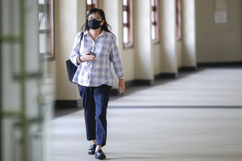 Maybank Medan Tuanku assistant manager Low Ai Lin is pictured at the Kuala Lumpur High Court March 10, 2020. — Picture by Hari Anggara