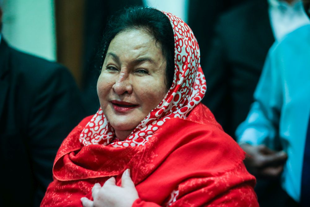 Datin Seri Rosmah Mansor is pictured at the Kuala Lumpur High Court March 10, 2020. — Picture by Hari Anggara