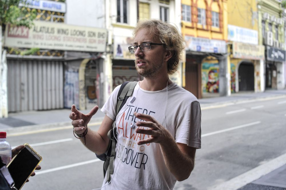 Frenchman Charles Da Natale, who has been travelling for a year, loves Malaysia for its diverse culture. — Picture by Shazwan Zaidon