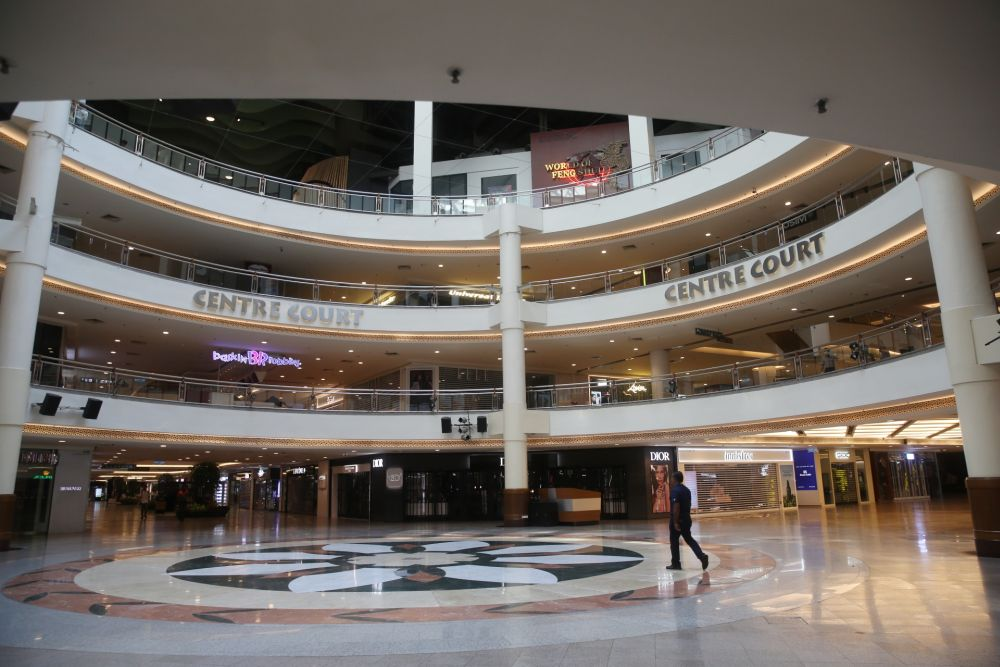 A general view of the deserted Mid Valley shopping mall in Kuala Lumpur as the movement control order kicks in on March 18, 2020. — Picture by Choo Choy May