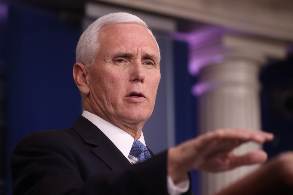 Vice President Mike Pence addresses the coronavirus task force daily briefing at the White House in Washington March 24, 2020. ― Reuters pic