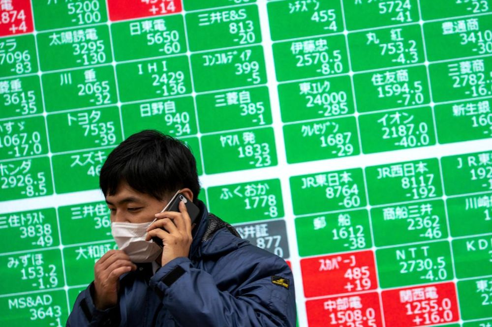 The benchmark Nikkei 225 added 0.85 per cent, or 241.67 points, to 28,698.26, while the broader Topix index rose 0.48 per cent, or 8.88 points, to 1,873.28. — Reuters pic