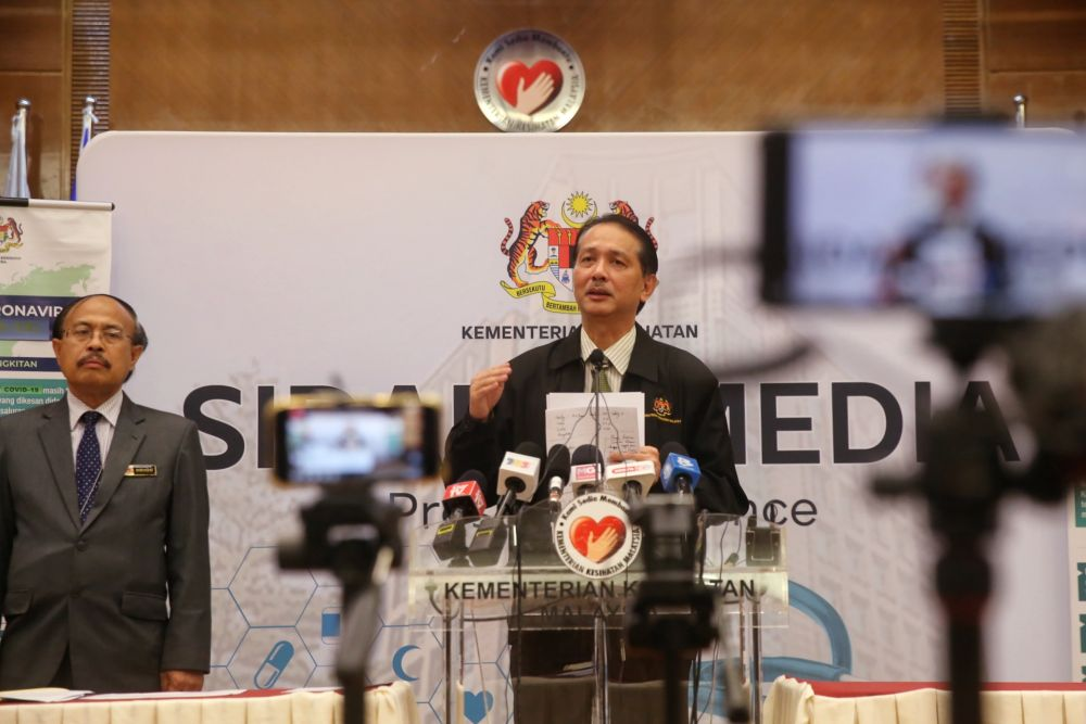 Health Director-General Datuk Dr Noor Hisham Abdullah said the number of Covid-19 cases detected in Malaysia today rose to three. — Picture by Choo Choy May