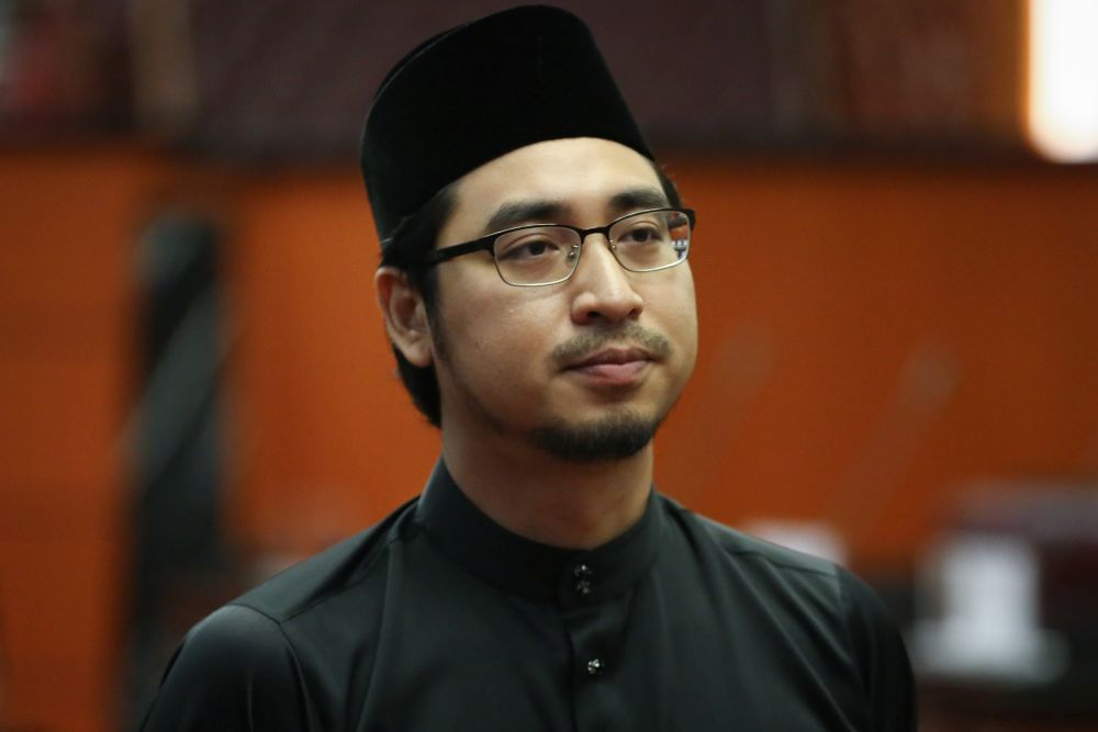 Wan Ahmad Fayshsal Wan Ahmad is pictured at Dewan Negara after being sworn in as senator March 10, 2020. — Picture by Yusof Mat Isa