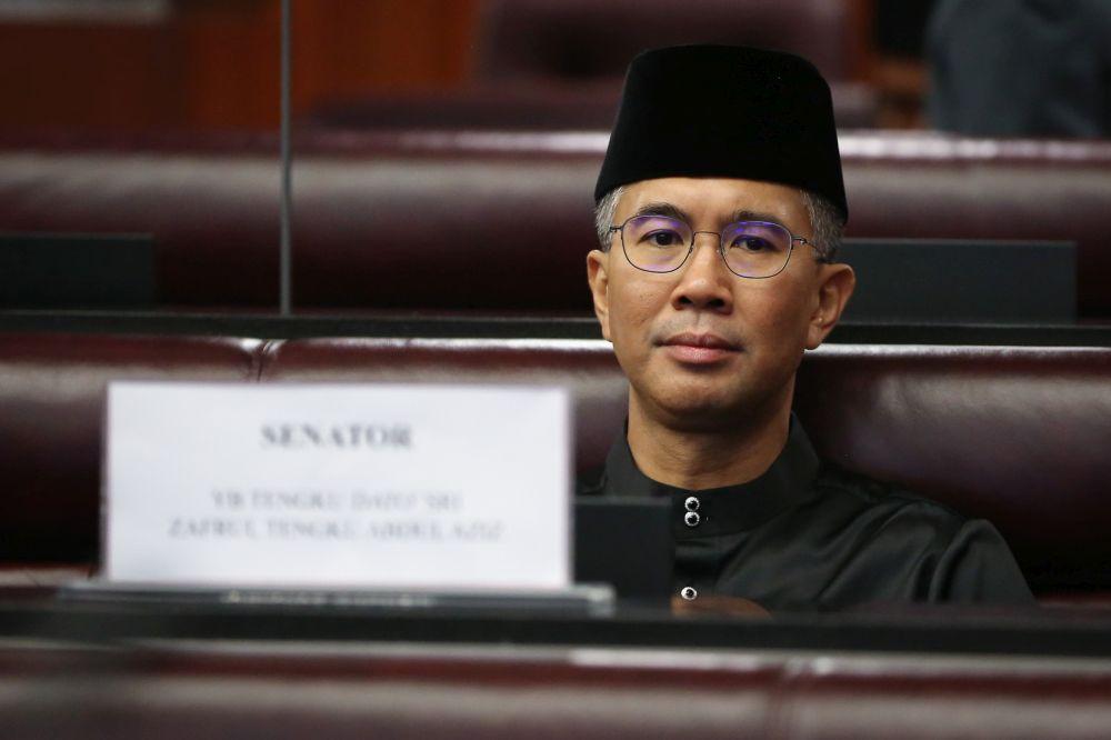 Datuk Seri Tengku Zafrul Tengku Abdul Aziz is pictured at Dewan Negara after being sworn in as senator March 10, 2020. — Picture by Yusof Mat Isa