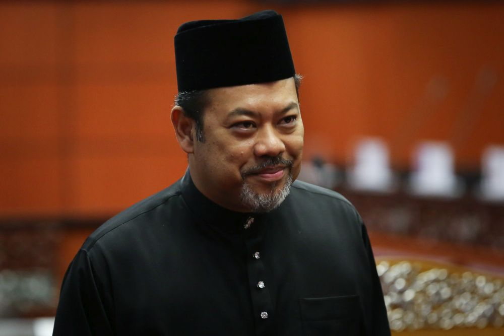 File photo of Datuk Ahmad Masrizal Muhammad at Dewan Negara after being sworn in as senator March 10, 2020. — Picture by Yusof Mat Isa