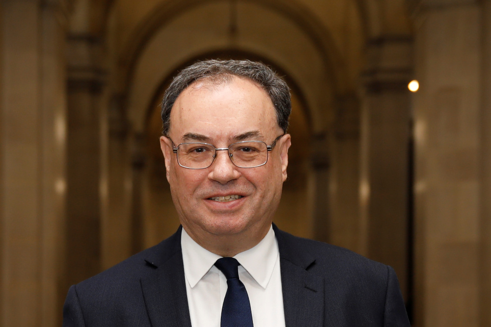 BoE governor Andrew Bailey says Britain will resist 'very firmly' any European Union attempts to arm-twist banks into shifting trillions of euros in derivatives clearing from Britain to the bloc after Brexit. — Picture by Tolga Akmen/Pool via Reuters