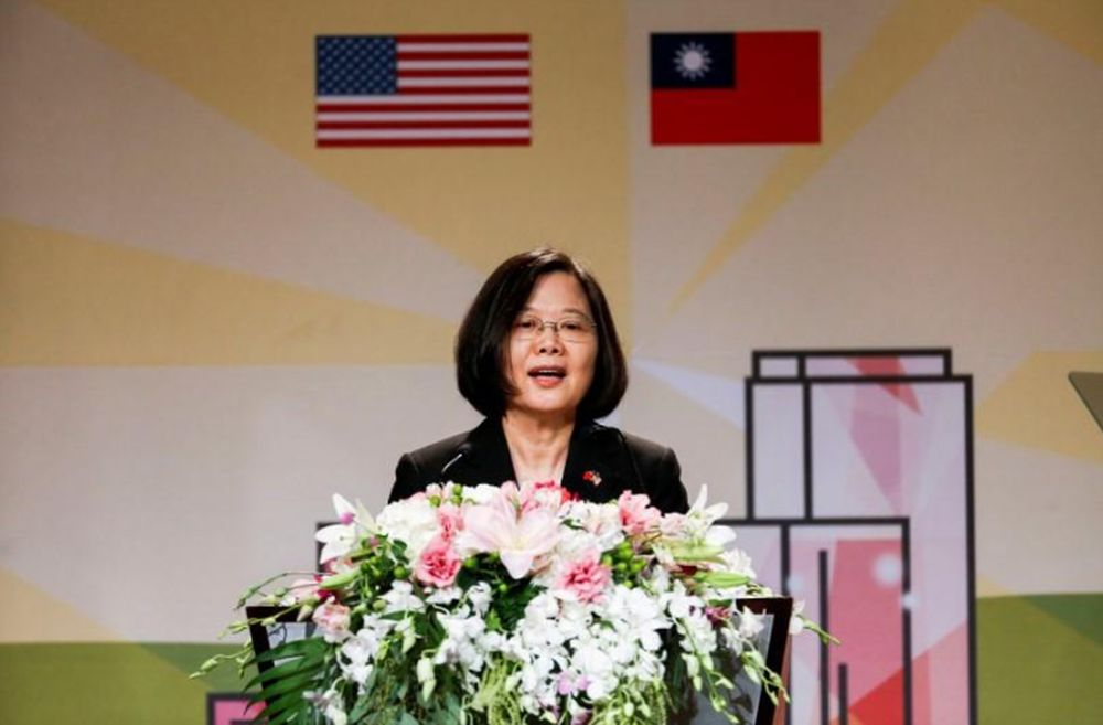 Taiwan's President Tsai Ing-wen described Guyana's decision as 'unilateral' in a Facebook post. — Reuters pic