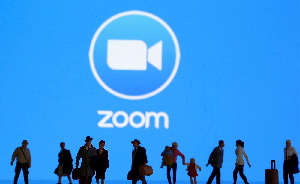 Zoom has seen its user numbers surge in the past year, while its shares more than quadrupled during the same period.  — Reuters pic