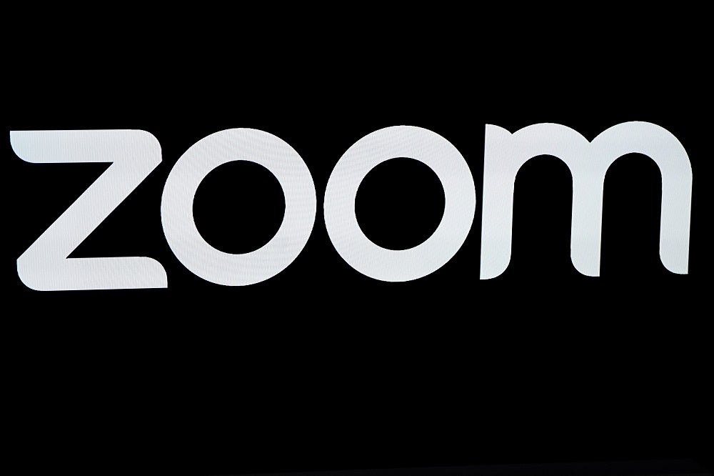 The Zoom Video Communications logo is pictured at the Nasdaq MarketSite in New York April 18, 2019. — Reuters pic