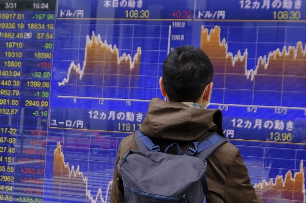 The benchmark Nikkei 225 index was down 0.20 per cent or 46.97 points to 23,428.56 in early trade, while the broader Topix index slipped 0.07 per cent or 1.19 points to 1,643.16. — AFP pic