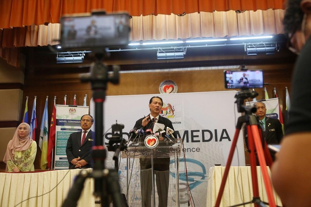 Health director-general Datuk Dr Noor Hisham Abdullah at a press conference in Putrajaya April 13, 2020. — Picture by Choo Choy May