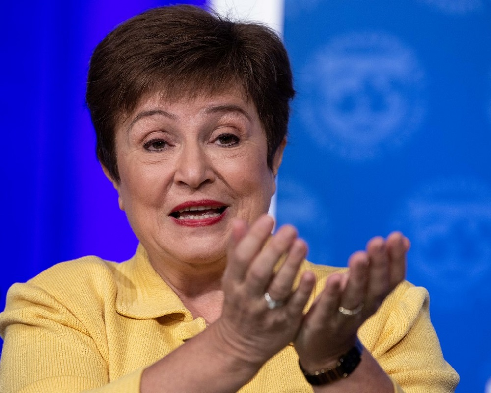 IMF Managing Director Kristalina Georgieva did not give any specific economic forecasts, but made clear her desire for governments to up their spending and that a synchronised approach internationally was best for growth. — AFP pic