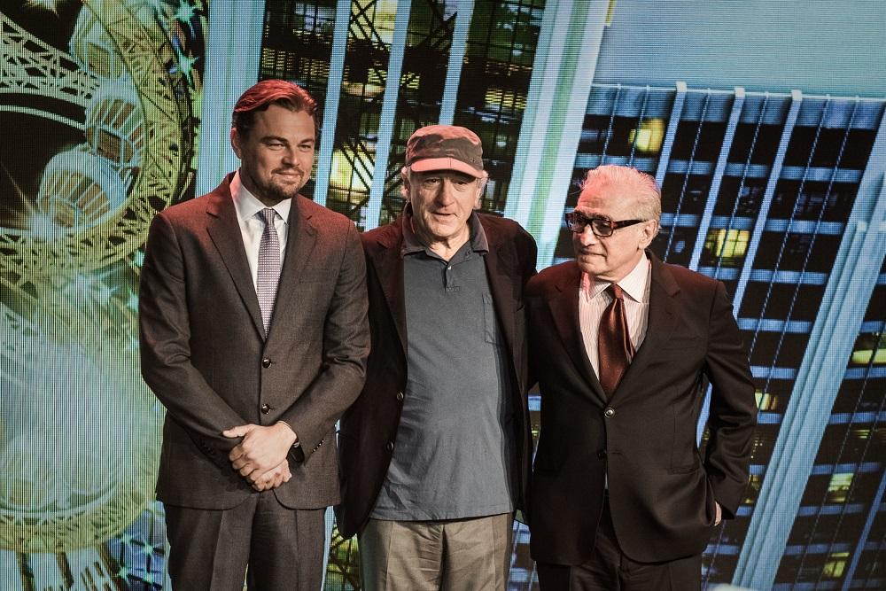 US actor Leonardo DiCaprio, US actor Robert De Niro and US film director Martin Scorsese. — AFP pic