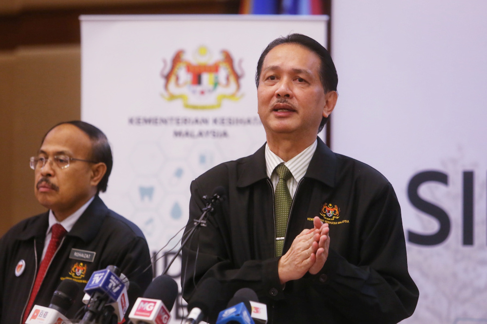 Health director-general Datuk Dr Noor Hisham Abdullah speaks during a press conference on Covid-19 in Putrajaya April 27, 2020. — Picture by Choo Choy May