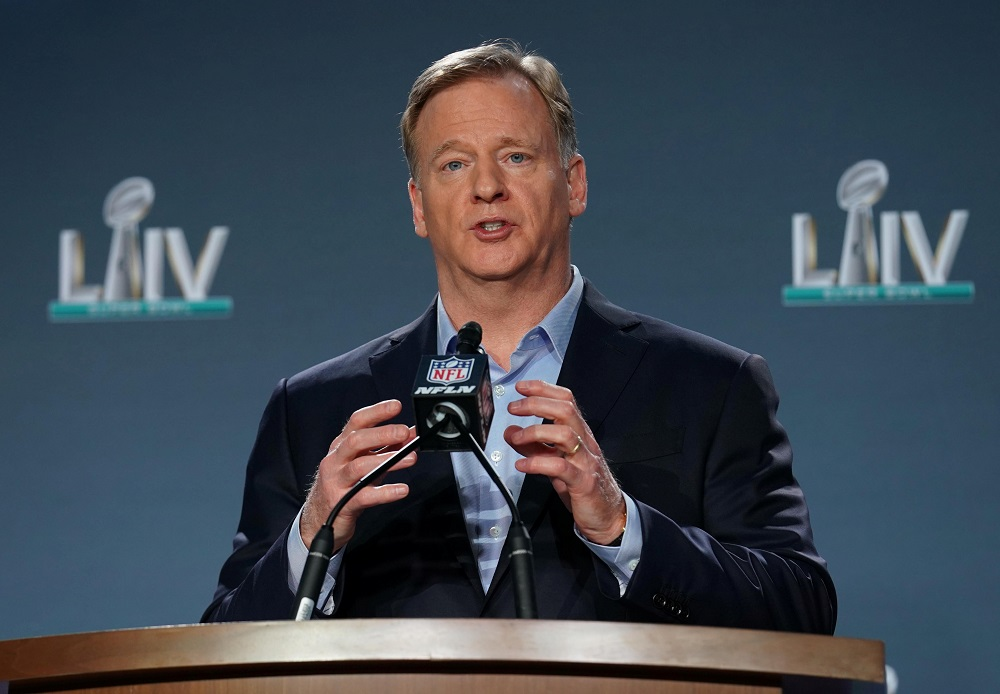 NFL commissioner Roger Goodell, believed to be the highest paid sports administrator in the world, had voluntarily requested his paycheck be slashed to zero last month. — Picture by Kirby Lee-USA TODAY Sports via Reuters