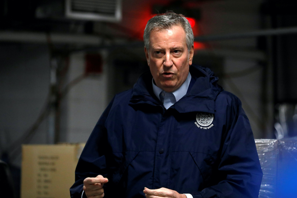 Mayor Bill de Blasio says New York City's school system will require all 1.1 million of its students to attend classes in person this fall after more than a year of pandemic-induced disruption. — Reuters file pic