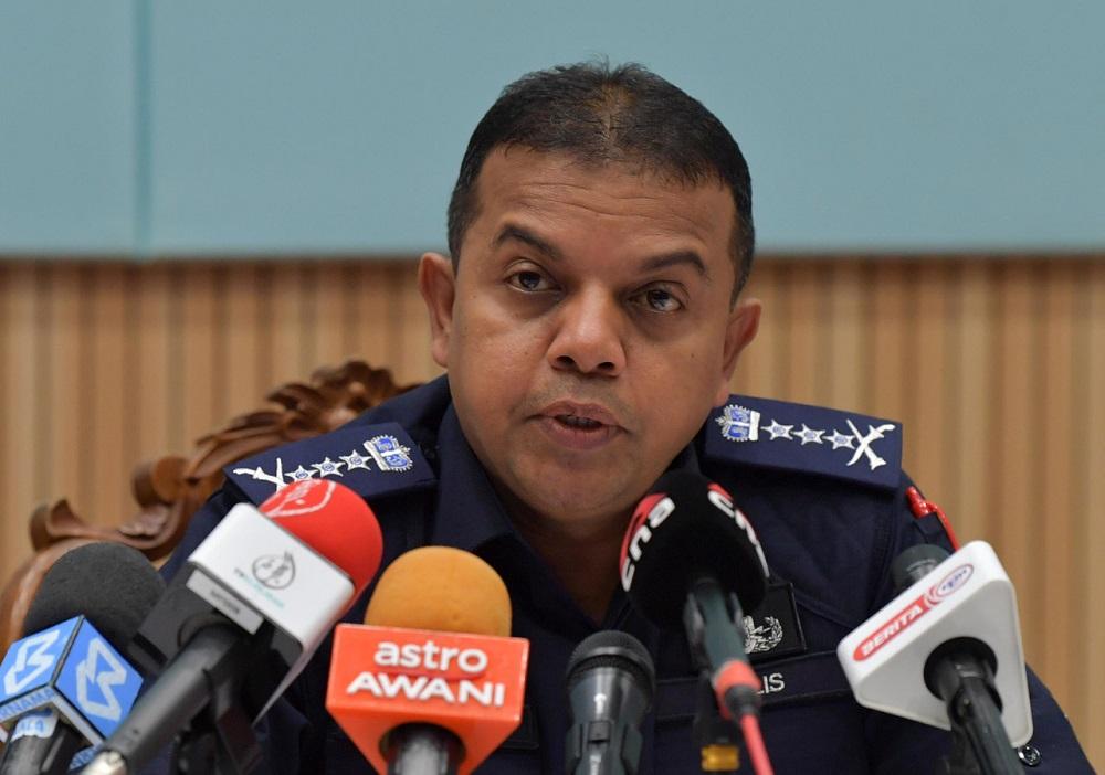 Johor police chief Datuk Ayob Khan Mydin Pitchay during a press conference in Johor Baru April 1, 2020. — Bernama pic